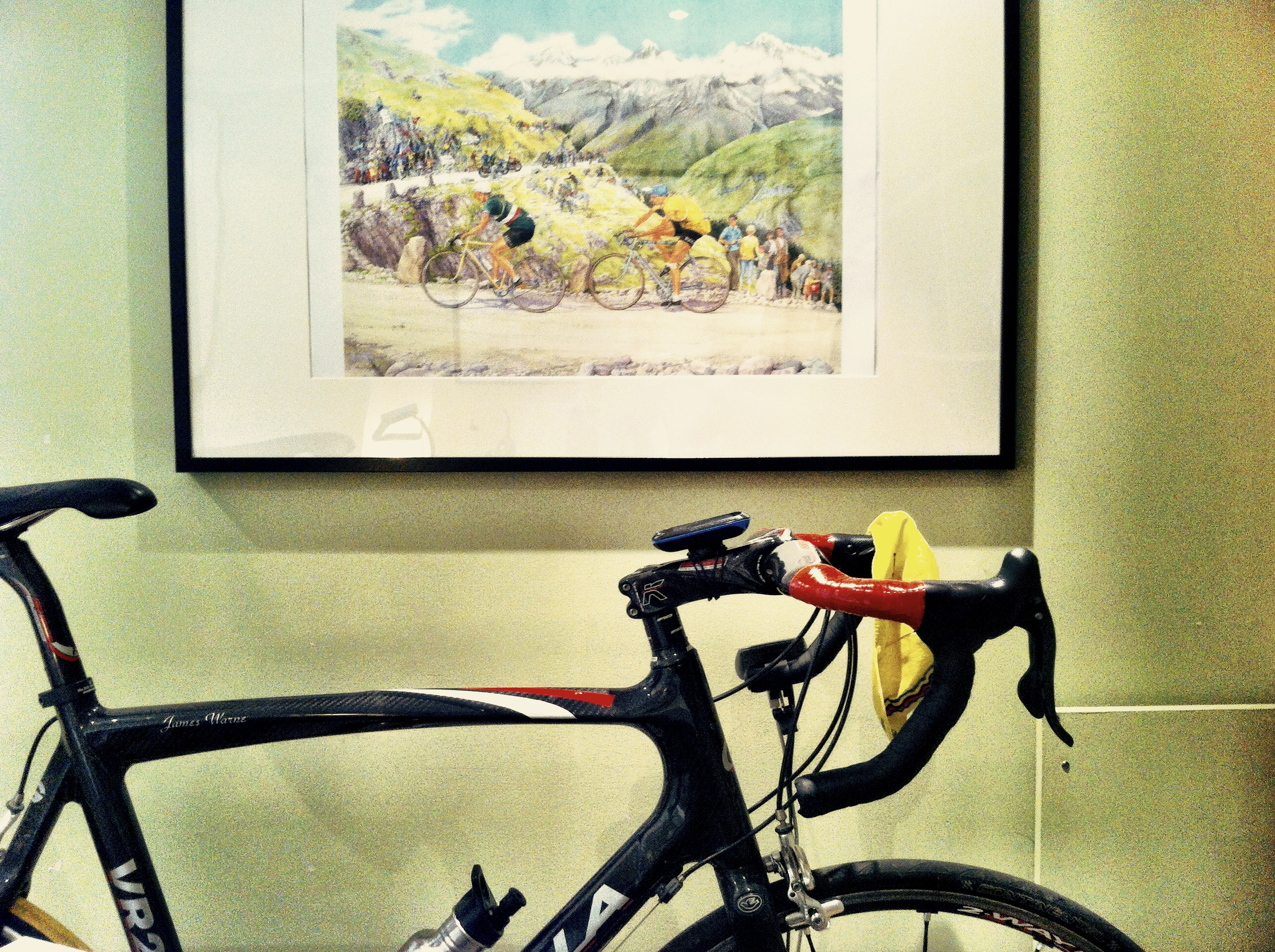 The bike will spend the winter in the shadow of Bartali and Coppi climbing through the Pyrenees.